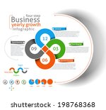 business infographic vector... | Shutterstock .eps vector #198768368