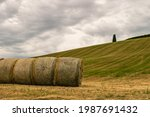 A Closeup Of Some Hay Bales...
