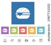 single cheeseburger flat white... | Shutterstock .eps vector #1987713332