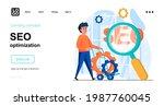 seo optimization web concept....