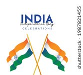 india independence day design... | Shutterstock .eps vector #1987821455
