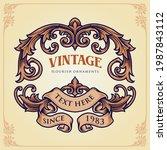 badge vintage flourish label... | Shutterstock .eps vector #1987843112