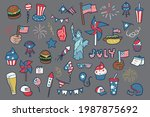 4th of july  independence day... | Shutterstock .eps vector #1987875692