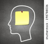 head notes with a blank yellow... | Shutterstock .eps vector #198788036