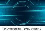 abstract technology horizontal... | Shutterstock .eps vector #1987890542