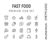 premium pack of fast food line...
