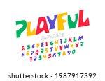 playful style font design ...   Shutterstock .eps vector #1987917392