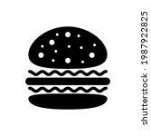 burger hamburger icon isolated... | Shutterstock .eps vector #1987922825
