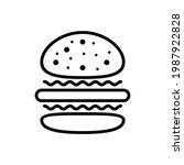burger hamburger icon isolated... | Shutterstock .eps vector #1987922828