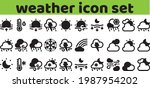 weather icon set solid glyph... | Shutterstock .eps vector #1987954202