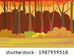 forest trees illustration.... | Shutterstock .eps vector #1987959518