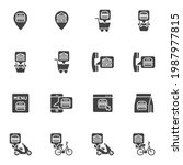 fast food ordering vector icons ... | Shutterstock .eps vector #1987977815