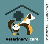 veterinary care vector logo... | Shutterstock .eps vector #1988007425