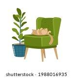 Retro Soft Chair And Ornamental ...