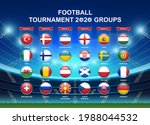 soccer championship groups and... | Shutterstock .eps vector #1988044532