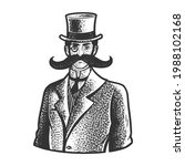 Gentleman With A Giant Mustache ...