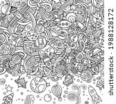 cartoon cute doodles space...   Shutterstock .eps vector #1988128172