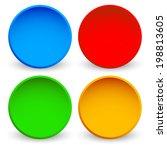 blank glossy sphere elements | Shutterstock .eps vector #198813605