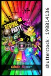 party club flyer for music... | Shutterstock .eps vector #198814136