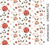 abstract pattern with the cats... | Shutterstock .eps vector #1988149712