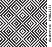 black and white geometric... | Shutterstock .eps vector #198818855