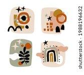 modern collages set. various... | Shutterstock .eps vector #1988196632