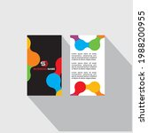 business card icon set. vector...