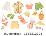 summer clothing cute stickers... | Shutterstock .eps vector #1988212325