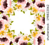 abstract flower background with ... | Shutterstock . vector #198822062