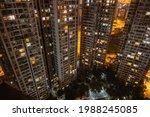 Long Exposure Night Aerial View ...