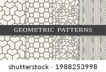 set of geometric seamless... | Shutterstock .eps vector #1988253998