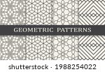 set of geometric seamless... | Shutterstock .eps vector #1988254022