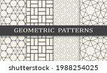 set of geometric seamless... | Shutterstock .eps vector #1988254025