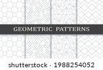 set of geometric seamless... | Shutterstock .eps vector #1988254052