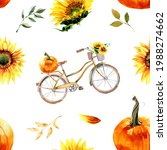 Watercolor Sunflowers And...