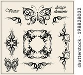 vector set  calligraphic design ... | Shutterstock .eps vector #198828032