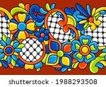mexican talavera seamless... | Shutterstock .eps vector #1988293508