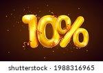 10 percent off. discount... | Shutterstock .eps vector #1988316965