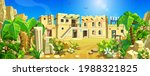 an ancient ancient town among...   Shutterstock .eps vector #1988321825