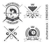 Set Of Billiards Emblems Label...