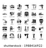 set of construction tool 1 thin ... | Shutterstock .eps vector #1988416922