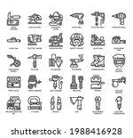 set of construction tool 1 thin ... | Shutterstock .eps vector #1988416928