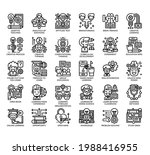set of creative learning thin... | Shutterstock .eps vector #1988416955