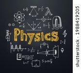 physics chalkboard background... | Shutterstock .eps vector #1988419205