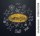 chemistry chalkboard background ... | Shutterstock .eps vector #1988419208