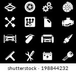 auto service icons | Shutterstock .eps vector #198844232