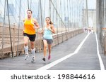 running couple. runners jogging ... | Shutterstock . vector #198844616