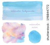 blue ombre watercolor... | Shutterstock .eps vector #198844772