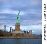Side View Of Statue Of Liberty...
