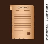 old contract  with a stamp. the ... | Shutterstock .eps vector #1988459855